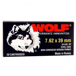 Wolf Performance Ammo Performance 7.62X39 Soft Point, 125 Grain (1000 Rounds) - 762BSP