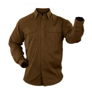 5.11 Tactical Pro Men's Long Sleeve Uniform Shirt in Battle Brown - 2X-Large