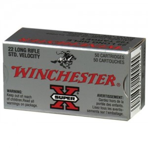 Winchester Super-X .22 Long Rifle Lead Round Nose, 40 Grain (50 Rounds) - XT22LR