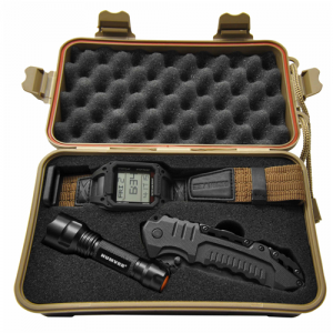Recon Mission Combo Set Watch, Knife and LED Light