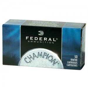 Federal Cartridge Champion .22 Winchester Magnum Full Metal Jacket, 40 Grain (50 Rounds) - 737