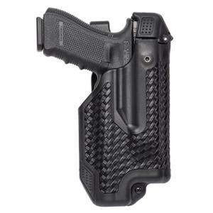 Blackhawk Epoch L3 Molded Light Bearing Right-Hand Belt Holster for Glock 20 in Black Basketweave - 44E013BW-R