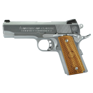 """American Classic 1911 .45 ACP 7+1 4.3"""" 1911 in Steel (Compact Commander) - ACCC45C"""