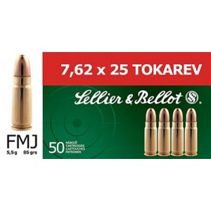 Magtech Ammunition Training  7.62X25 Tokarev Full Metal Jacket, 85 Grain (50 Rounds) - SB762TOK