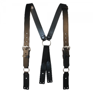 Boston Leather Fireman's Leather Suspender in Leather