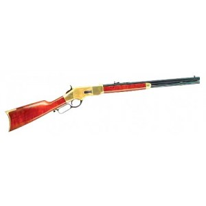 """Cimarron 1866 .45 Long Colt Yellow Boy 10-Round 20"""" Lever Action Rifle in Brass - CA234"""