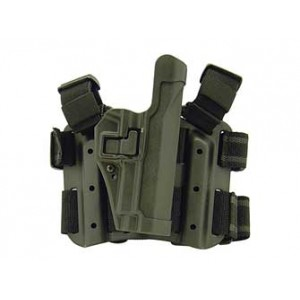 "Blackhawk Level 2 Right-Hand Thigh Holster for Sig Sauer P220, P226, P228, P229 in Black Carbon Fiber (4.4"") - 430506BK-R"