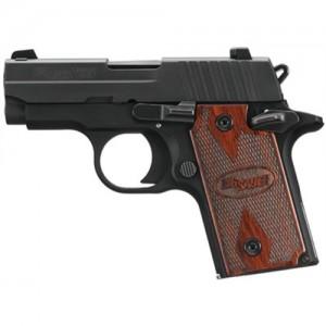 "Sig Sauer P238 Micro-Compact Rosewood .380 ACP 6+1 2.7"" Pistol in Black Nitron (Rosewood Grip) - 238380RG"