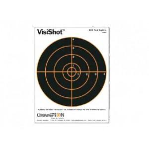"""Champion Traps & Targets Visishot Target, 8.5x11 8"""", Bullseye, 10 Pack 45802"""