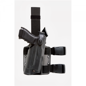 Safariland 6304 ALS Right-Hand Thigh Holster for Glock 20 in STX Black Tactical (W/ Las-Tac 2) - 6304-3832-131
