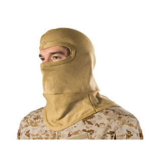 HellStorm  Balaclava -Bibbed w  Balaclava 3oz 18  w/Nomex, Coyote Tan, Flame/flash protection for the head and neck, Constructed entirely of DuPont NOMEX fabric, Will not support flame or combust up to 800  F (427 C), Flat-seam stitching wont irritate whe
