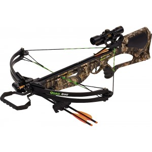 "Barnett Quad 400 Crossbow/Scope Package 22"" Bolt Size 4X32 Multi-Reticle Scope Camo Finish 78032"