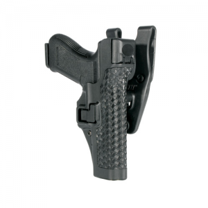 "Blackhawk Level 3 Serpa Left-Hand Belt Holster for Smith & Wesson M&P in Black Basketweave (4"") - 44H125BW-L"