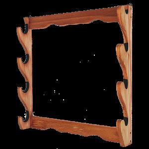 Allen 18550 Four Gun Wooden Wall Rack