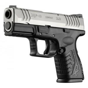 "Springfield XDM 9mm 13+1 3.8"" Pistol in Stainless Slide/Black Frame (Compact) - XDM9389CSNJ"