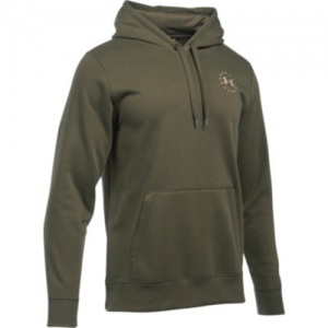 Under Armour Freedom Flag Rival Men's Pullover Hoodie in Marine OD Green - Large