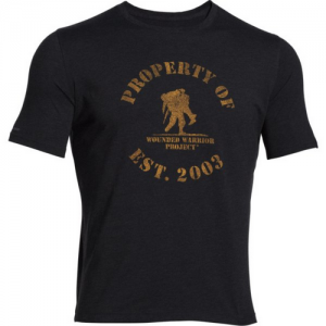 Under Armour Support The Troops Men's T-Shirt in Carbon Heather - Small