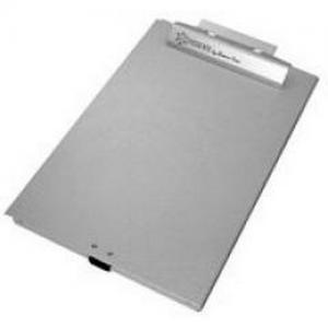 LTR Size Bottom Open Clipboard Box Color: Silver
