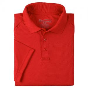 5.11 Tactical Performance Men's Short Sleeve Polo in Range Red - Medium