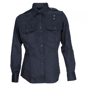5.11 Tactical PDU Class B Women's Long Sleeve Uniform Shirt in Midnight Navy - Small