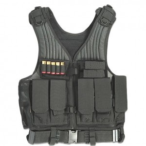 Drago Gear Tactical Vest in Mesh Net Black - Most Size Fits Most