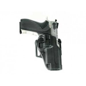 """Blackhawk CQC Serpa Right-Hand Multi Holster for Smith & Wesson 5900/4000 Series in Black Carbon Fiber (4"""") - 410510BK-R"""