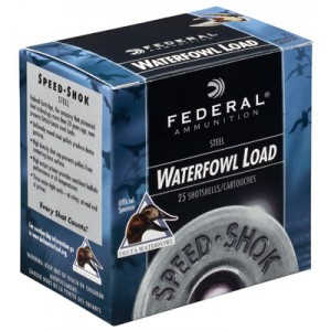 "Federal Cartridge Speed-Shok Waterfowl .12 Gauge (3.5"") 2 Shot Steel (250-Rounds) - WF1342"
