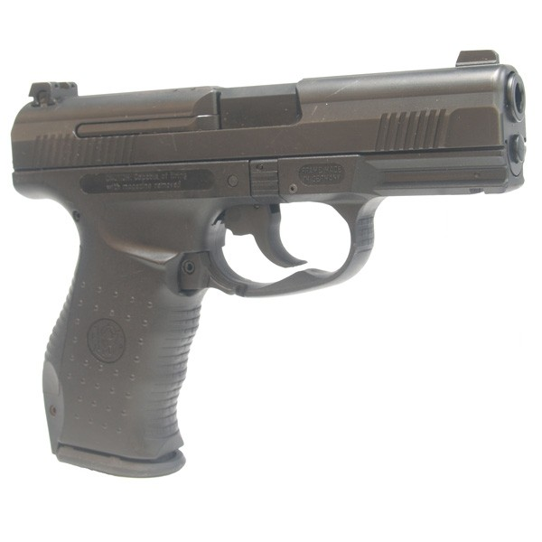 "Pre-Owned Smith & Wesson Model SW99 9mm Luger (Parabellum) Semi-Automatic Pistol with 4.5"" Barrel, 16+1 Capacity, and Adjustable 3-Dot Sights"