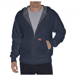 Dickies Thermal Lined Fleece Men's Full Zip Hoodie in Dark Navy - Medium
