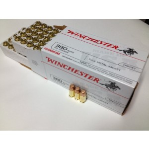 Winchester .380 ACP Full Metal Jacket, 95 Grain (100 Rounds) - USA380VP