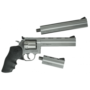 """Dan Wesson 715 Pistol Pack .357 Magnum 6+1 4"""" 1911 in Brushed Stainless Steel - 01935"""