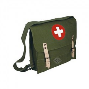 Olive Drab German Style Medical Shoulder Bag