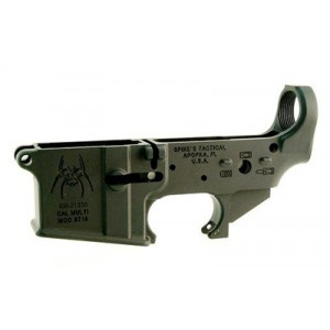 Spike's Tactical Stls019 Spider, Stripped Lower, Semi-automatic, 223 Rem/556nato, Black, Non-color Stls019