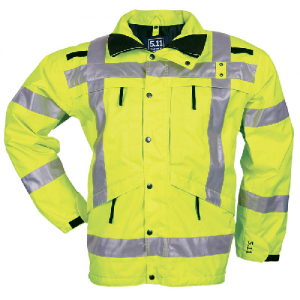 5.11 Tactical High Visibility Parka Men's Full Zip Coat in Reflective Yellow - X-Small