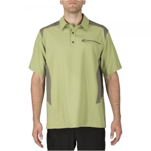 5.11 Tactical Freedom Flex Men's Short Sleeve Polo in Mosstone - Small