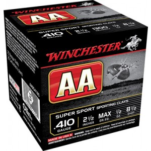 "Winchester AA .410 Gauge (2.5"") 8.5 Shot Lead (250-Rounds) - AASC4185"