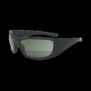 Radians VG75PBX Vengeance Shooting Glasses Black Soft Touch Frame Green Polarize