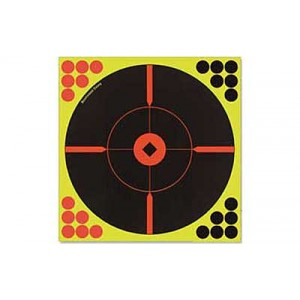 "Birchwood Casey Shoot-n-c Target, Round, Crosshair Bullseye, 8"", 6 Targets 34806"