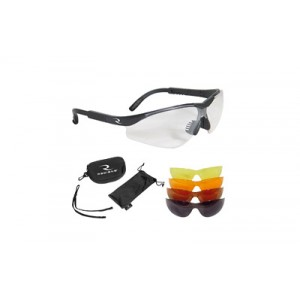 Radians T-85, Glasses, Blk Frame, Clear, Copper, Amber, Orange, Green Mirror, Case/cloth Bag/neckcord T85rc