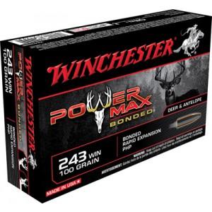 Winchester Super-X .243 Winchester Power Max Bonded, 100 Grain (20 Rounds) - X2432BP
