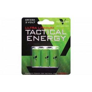 Viridian Green Laser Battery, Cr123a Lithium Battery, 3 Pack, Green Vir-cr123-3