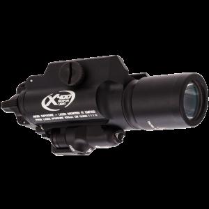 Surefire X400 Handgun/Long Gun LED WeaponLight w/Red Laser 6V 170 Lumens Black