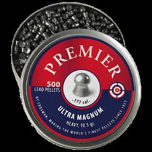 Crosman LUM177 Premier Pellets Heavy Pellets .177 500 Count Silver