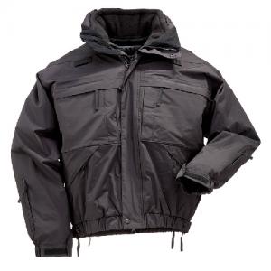 5.11 Tactical 5-in-1 Men's Full Zip Jacket in Black - Small