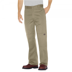 Dickies Double Knee Work Pant Men's Uniform Pants in Khaki - 32 x 30