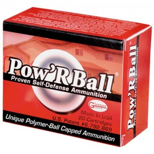 Corbon Ammunition Glaser .380 ACP Powerball, 70 Grain (20 Rounds) - PB38070