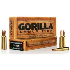 Gorilla Ammunition Company LLC Gorilla Ammunition .223 Remington Boat tail Hollow Point, 77 Grain (20 Rounds) - GA22377SMK