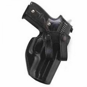 Aker Leather 267 Nightguard Right-Hand Paddle Holster for Smith & Wesson M&P .40 in Black (W/ Streamlight M3) - H267BPRU-MP40M3