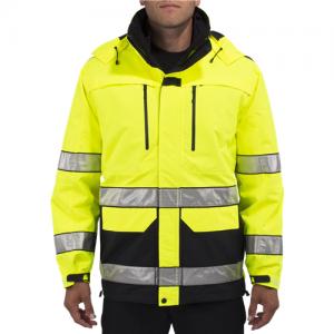 5.11 Tactical First Responder Hi-Vis Men's Full Zip Jacket in Dark Navy - 2X-Large