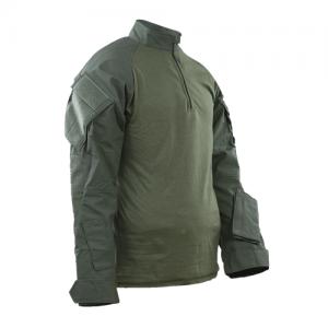 Tru Spec Xtreme Combat Shirt Men's Long Sleeve Shirt in OD Green - Large